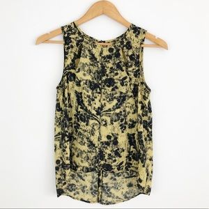 Anthropologie | Silence + Noise Print Tank Top XS